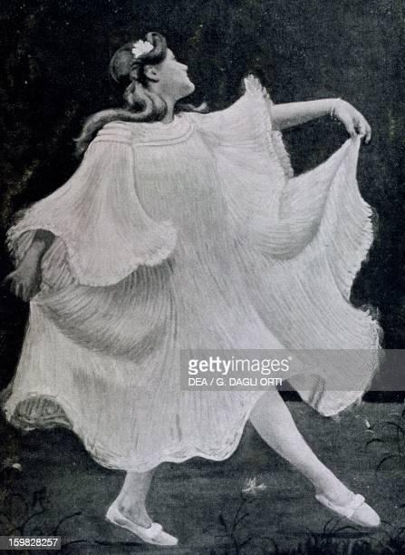 Dancer Engraving by Aubertin France 20th century Paris Bibliothèque Des Arts Decoratifs