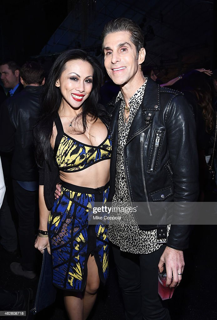 Dancer Etty Lau Farrell and musician Perry Farrell attend DirecTV Super Saturday Night hosted by Mark Cuban's AXS TV and Pro Football Hall of Famer...