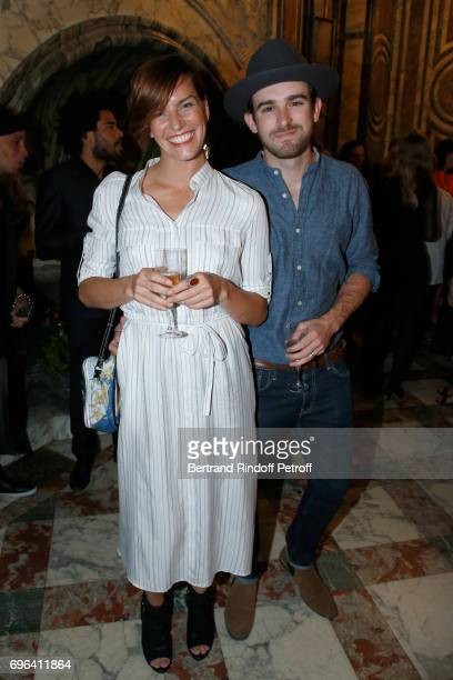 Dancer Fauve Hautot and her companion Jules Renault attend the JeanPaul Gaultier 'Scandal' Fragrance Launch at Hotel de Behague on June 15 2017 in...