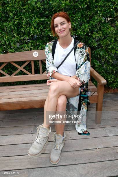 Dancer Fauve Hautot attends the 2017 French Tennis Open Day Two at Roland Garros on May 29 2017 in Paris France
