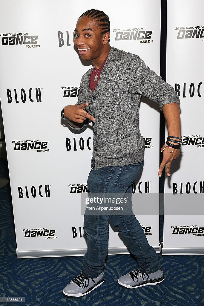 Dancer FikShun attends the 'So You Think You Can Dance' 2013 Tour Press Hour at Nokia Theatre LA Live on November 27 2013 in Los Angeles California