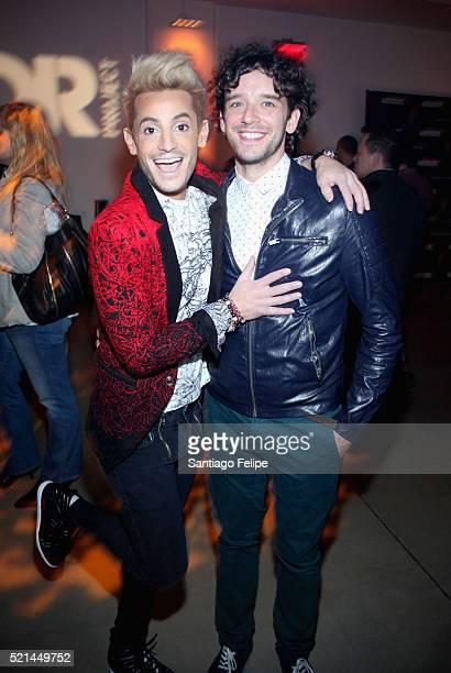 Dancer Frankie Grande and actor Michael Urie attend Trevor NextGen Spring Fling 2016 on April 15 2016 in New York City