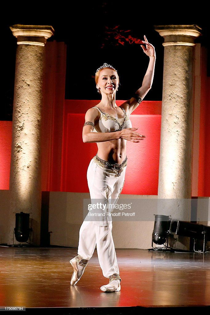 Dancer from StaatsBallet of Berlin Iana Salenko performs at 'Stars under Stars' at 29th Ramatuelle Festival on July 31, 2013 in Ramatuelle, France.