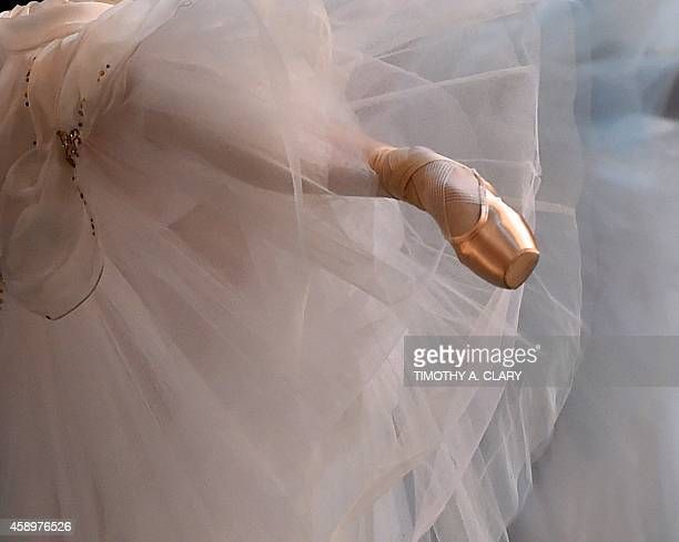 A dancer from the Mikhailovsky Ballet of St Petersburg Russia performs a scene from 'The Flames of Paris ' during a dress rehearsal at the David H...
