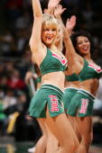 A dancer from the Milwaukee Bucks performs against the Memphis Grizzlies December 8 2006 at the Bradley Center in Milwaukee Wisconsin The Bucks won...