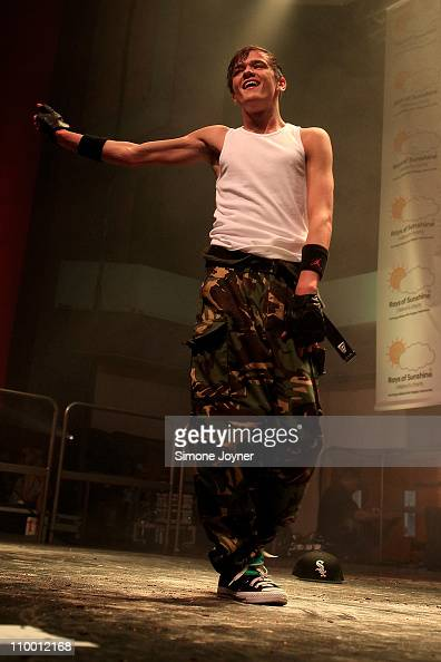Dancer George Sampson performs at The Sunshine Concert in aid of the 'Rays of Sunshine Children's Charity' at the Troxy on March 11 2011 in London...