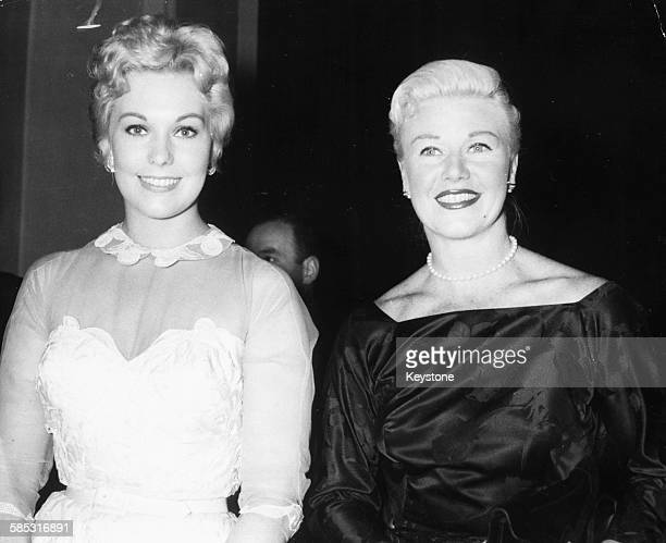 Dancer Ginger Rogers and actress Kim Novak attending the Cannes Film Festival France circa 1956