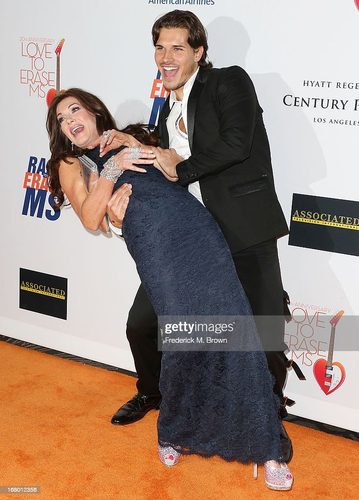 Dancer Gleb Savchenko (R) and actress Lisa Vanderpump attend the 20th Annual Race to Erase MS Gala 'Love to Erase MS' at the Hyatt Regency Century Plaza on May 3, 2013 in Century City, California.