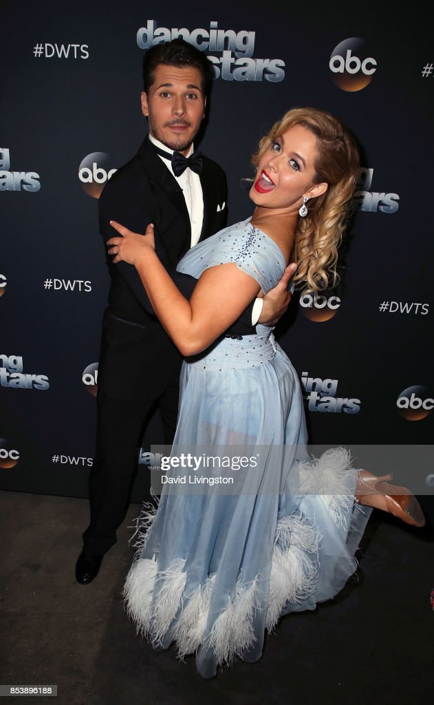 Dancer Gleb Savchenko (L) and actress Sasha Pieterse attend 'Dancing with the Stars' season 25 at CBS Televison City on September 25, 2017 in Los Angeles, California.