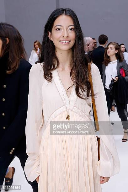 Dancer Hannah O'Neill attends the Chloe show as part of the Paris Fashion Week Womenswear Spring/Summer 2017 on September 29 2016 in Paris France