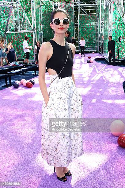 Dancer Hannah O'Neill attends the Christian Dior show as part of Paris Fashion Week Haute Couture Fall/Winter 2015/2016 on July 6 2015 in Paris France