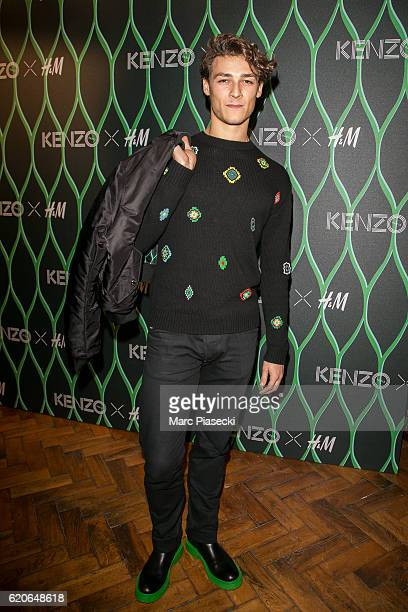 Dancer Hugo Marchand attends 'KENZO x HM' launch party at Hotel De Brossier on November 2 2016 in Paris France