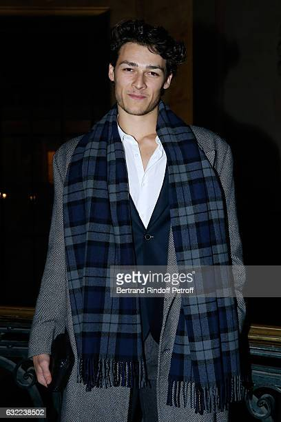 Dancer Hugo Marchand attends the Berluti Menswear Fall/Winter 20172018 show as part of Paris Fashion Week on January 20 2017 in Paris France