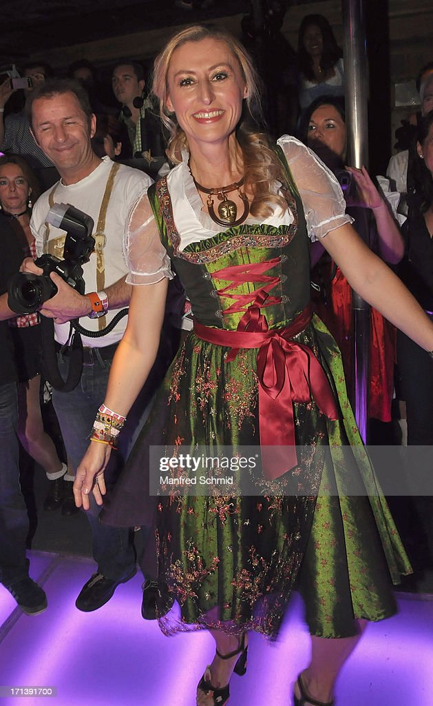 A dancer in Dirndl attends the 'Style Up Your Live' magazin presentation at Bettel-Alm on June 12, 2013 in Vienna, Austria.