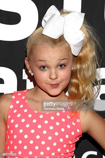 Dancer JoJo Siwa attends the GBK Stop Attack Pre Kids Choice Gift Lounge at The Redbury Hotel on March 26 2015 in Hollywood California