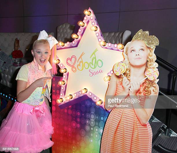 Dancer JoJo Siwa on the red carpet at JoJo Siwa from 'Dance Moms' 13th Birthday 80's Dance Party at Madame Tussauds on May 16 2016 in Hollywood...