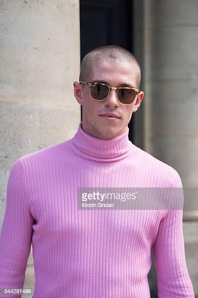 Dancer Jordan Robson wears Beyond Retro top on day 2 of Paris Collections Men on June 23 2016 in Paris France Jordan Robson