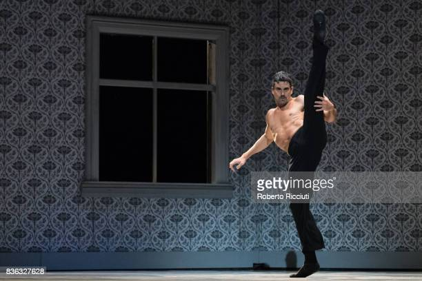 Dancer Jorge Nozal of Netherland Dans Theatre performs on stage 'Shoot the moon' by choreographers Sol Leon and Paul Lightfoot during a dress...