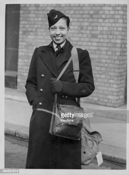 Dancer Josephine Baker arriving at the Savoy Hotel in London April 25th 1945