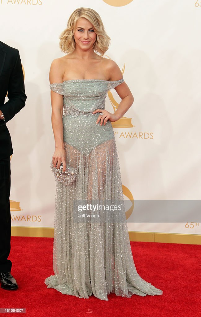 Dancer Julianne Hough arrives at the 65th Annual Primetime Emmy Awards held at Nokia Theatre LA Live on September 22 2013 in Los Angeles California