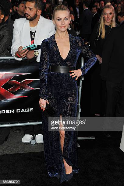 Dancer Julianne Hough attends the Premiere of Paramount Pictures' 'xXx Return of Xander Cage' at TCL Chinese Theatre IMAX on January 19 2017 in...