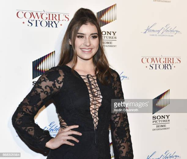 Dancer Kalani Hilliker attends the premiere of Samuel Goldwyn Films' 'A Cowgirl's Story' at Pacific Theatres at The Grove on April 13 2017 in Los...