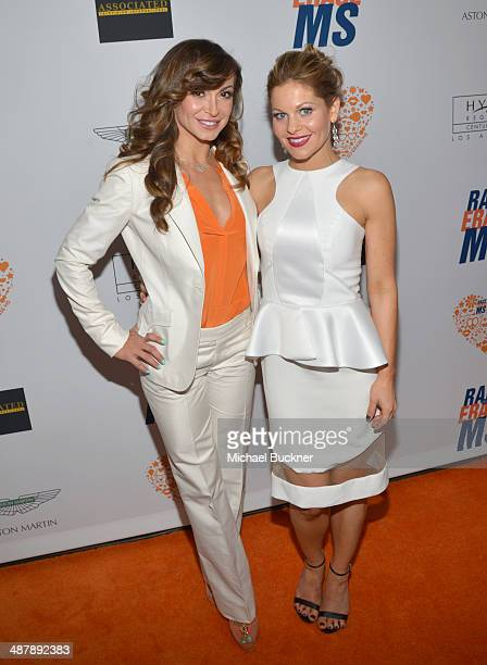 Dancer Karina Smirnoff and actress Candace Cameron Bure attends the 21st annual Race to Erase MS at the Hyatt Regency Century Plaza on May 2 2014 in...