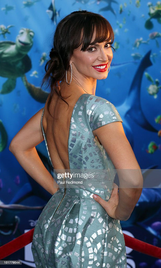 Dancer Karina Smirnoff arrives at 'Finding Nemo' Disney Digital 3D - Los Angeles Premiere at the El Capitan Theatre on September 10, 2012 in Hollywood, California.