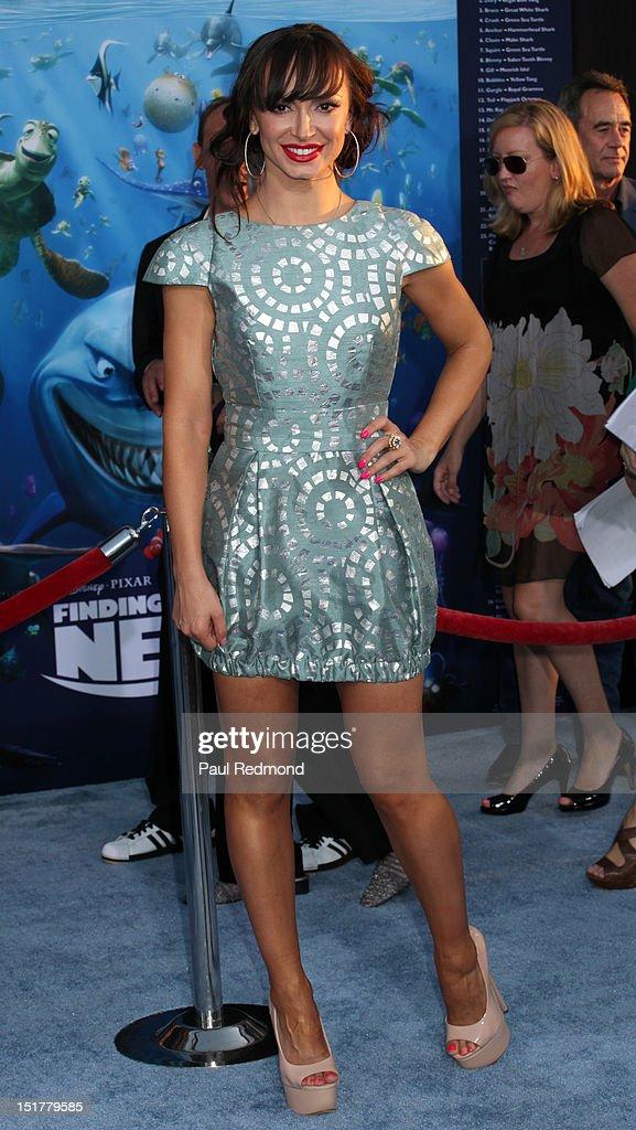Dancer Karina Smirnoff arrives at 'Finding Nemo' Disney Digital 3D - Los Angeles Premiere at the El Capitan Theatre on September 10, 2012 in Hollywood, California.