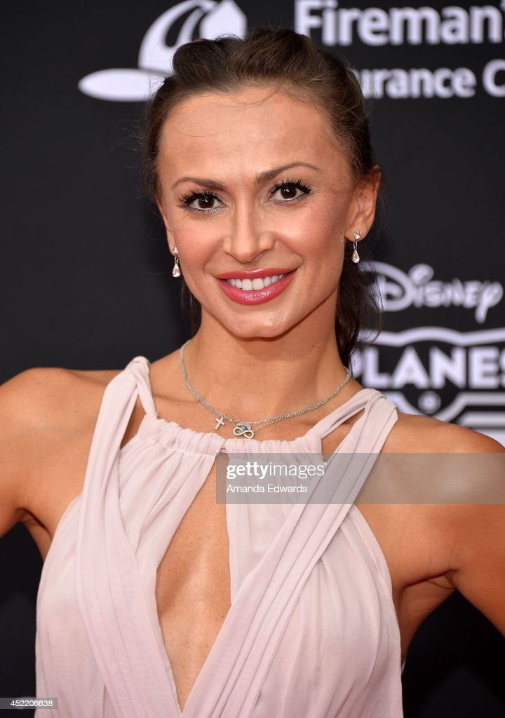 Dancer <a gi-track='captionPersonalityLinkClicked' href=/galleries/search?phrase=Karina+Smirnoff&family=editorial&specificpeople=4029232 ng-click='$event.stopPropagation()'>Karina Smirnoff</a> arrives at the Los Angeles premiere of Disney's 'Planes: Fire & Rescue' at the El Capitan Theatre on July 15, 2014 in Hollywood, California.
