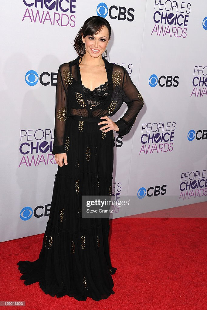 Dancer Karina Smirnoff attends the 2013 People's Choice Awards at Nokia Theatre L.A. Live on January 9, 2013 in Los Angeles, California.