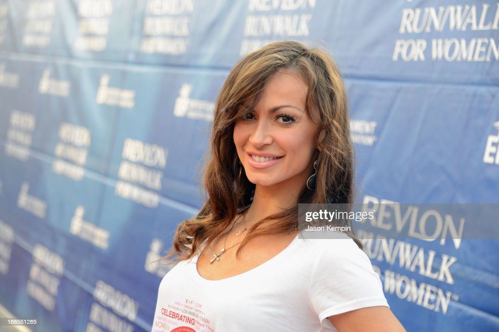 Dancer <a gi-track='captionPersonalityLinkClicked' href=/galleries/search?phrase=Karina+Smirnoff&family=editorial&specificpeople=4029232 ng-click='$event.stopPropagation()'>Karina Smirnoff</a> attends the 20th Annual EIF Revlon Run/Walk For Women at Los Angeles Memorial Coliseum on May 11, 2013 in Los Angeles, California.