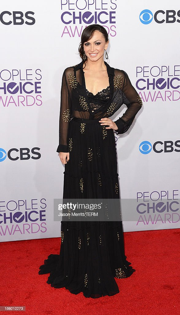 Dancer Karina Smirnoff attends the 39th Annual People's Choice Awards at Nokia Theatre L.A. Live on January 9, 2013 in Los Angeles, California.