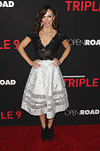 Dancer Karina Smirnoff attends the premiere of Open Road's 'Triple 9' held at Regal Cinemas LA Live on February 16 2016 in Los Angeles California