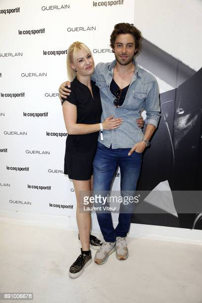 Dancer Katrina Patchett and Model Valentin D'Hoore attends 'Le Coq Sportif x Guerlain' at Le Coq Sportif Flagship on May 31 2017 in Paris France