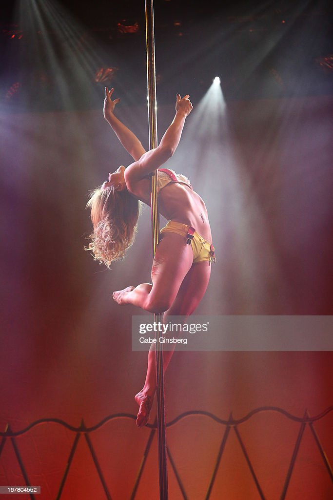 Dancer Koree Kurkowski performs during the premiere of the show 'Pin Up' at the Stratosphere Casino Hotel on April 29, 2013 in Las Vegas, Nevada.
