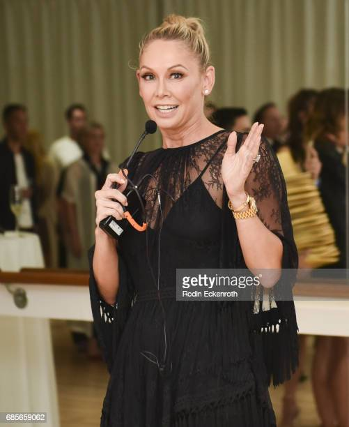Dancer Kym Herjavec speaks at the grand opening of The Bod by Kym Herjavec on May 19 2017 in Beverly Hills California