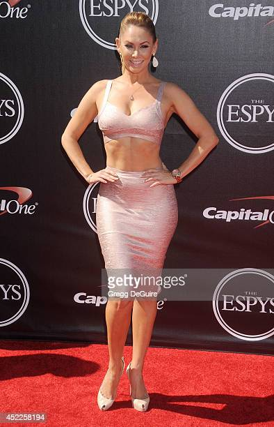 Dancer Kym Johnson arrives at the 2014 ESPY Awards at Nokia Theatre LA Live on July 16 2014 in Los Angeles California