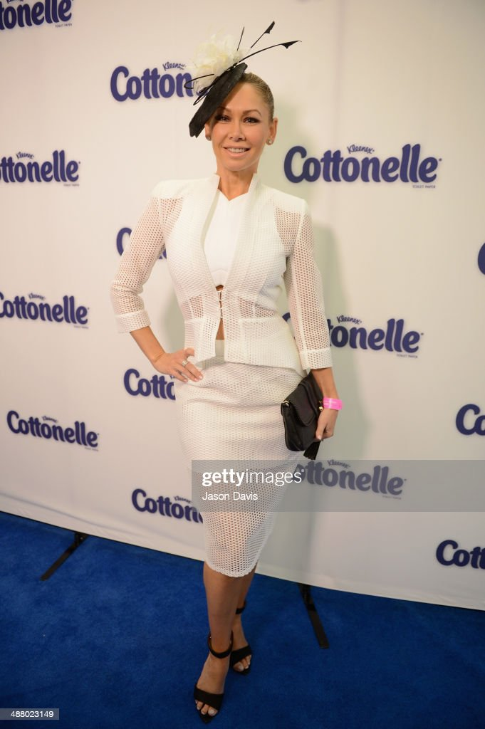 Dancer <a gi-track='captionPersonalityLinkClicked' href=/galleries/search?phrase=Kym+Johnson+-+Dancer&family=editorial&specificpeople=2577423 ng-click='$event.stopPropagation()'>Kym Johnson</a> attends Cottonelle Celebrity 'Clean Room' at the 140th Kentucky Derby at Churchill Downs on May 3, 2014 in Louisville, Kentucky.