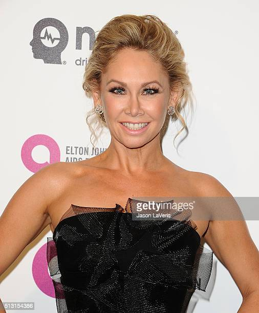 Dancer Kym Johnson attends the 24th annual Elton John AIDS Foundation's Oscar viewing party on February 28 2016 in West Hollywood California