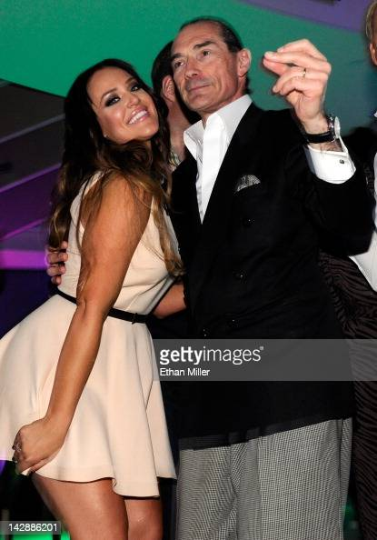 Dancer Lacey Schwimmer and Chairman and CEO of the New Tropicana Las Vegas Inc Alex Yemenidjian attend the after party for the grand opening of...