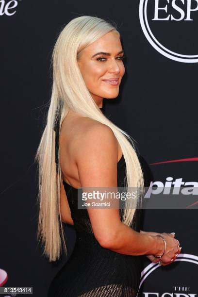 WWE dancer Lana arrives at the 2017 ESPYS at Microsoft Theater on July 12 2017 in Los Angeles California