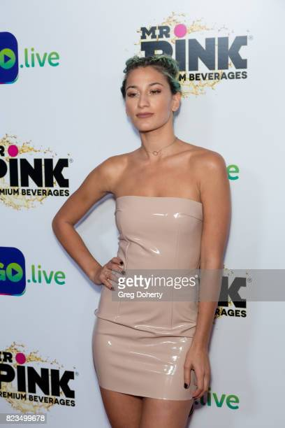 Dancer Lexy Panterra arrives for the iGolive Launch Event at the Beverly Wilshire Four Seasons Hotel on July 26 2017 in Beverly Hills California
