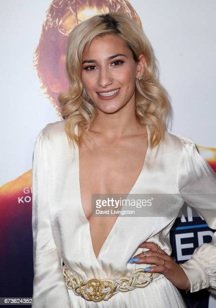 Dancer Lexy Panterra attends the premiere of Warner Bros Home Entertainment's 'American Wrestler The Wizard' at Regal LA Live Stadium 14 on April 26...