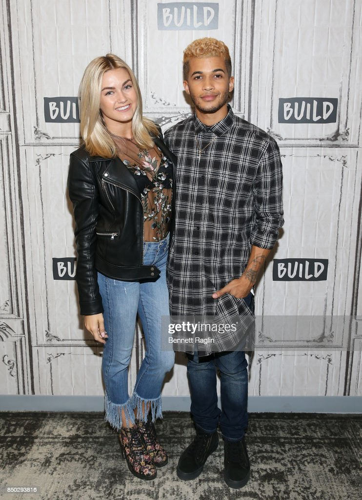 Dancer Lindsay Arnold and recording artist Jordan Fisher discuss The 25th Season Of 'Dancing With The Stars at Build Studio on September 20, 2017 in New York City.