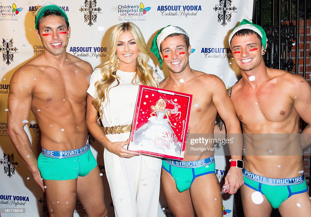 Dancer <a gi-track='captionPersonalityLinkClicked' href=/galleries/search?phrase=Lindsay+Arnold&family=editorial&specificpeople=10536483 ng-click='$event.stopPropagation()'>Lindsay Arnold</a> (second from left) attends The Abbey's 8th annual Christmas In September Event benefiting The Children's Hospital Los Angeles at The Abbey on September 24, 2013 in West Hollywood, California.