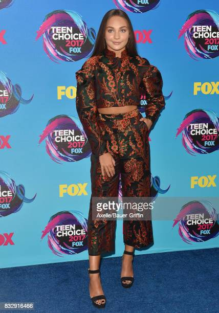 Dancer Maddie Ziegler arrives at the Teen Choice Awards 2017 at Galen Center on August 13 2017 in Los Angeles California