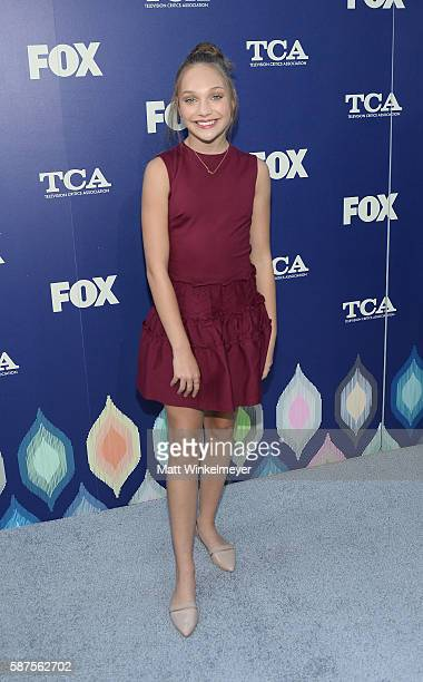 Dancer Maddie Ziegler attends the FOX Summer TCA Press Tour on August 8 2016 in Los Angeles California