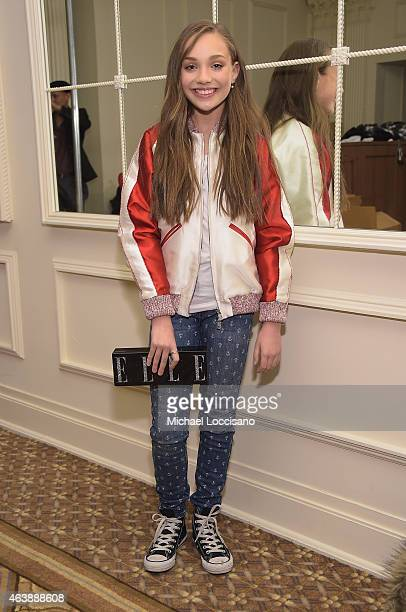 Dancer Maddie Ziegler attends the Sherri Hill fashion show during MercedesBenz Fashion Week Fall 2015 at The Plaza on February 19 2015 in New York...