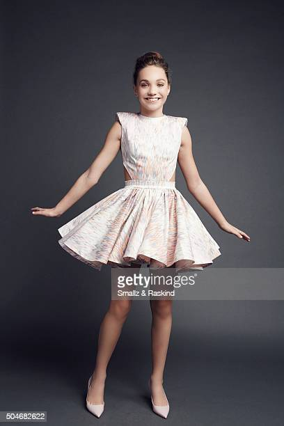 Dancer Maddie Ziegler poses for a portrait at the 2016 People's Choice Awards at the Microsoft Theater on January 6 2016 in Los Angeles California